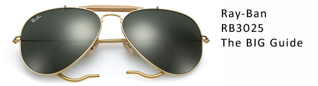 Ray-Ban RB3025 Aviator Sunglasses Guide: Size Guide